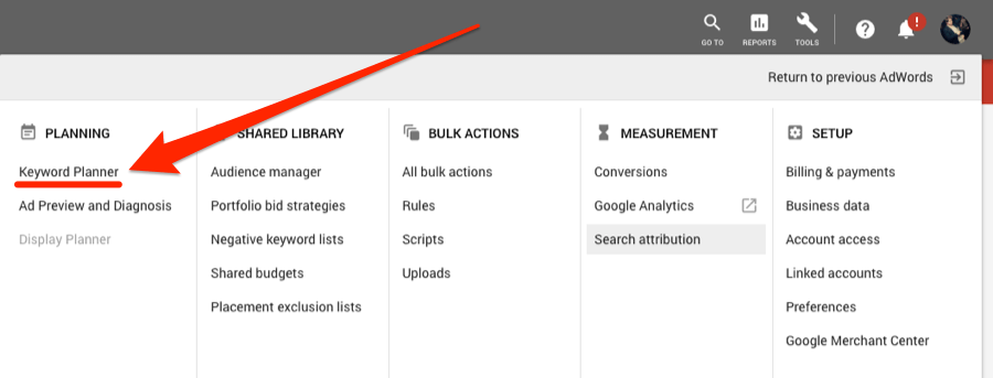 How to Use Google Keyword Planner 10
