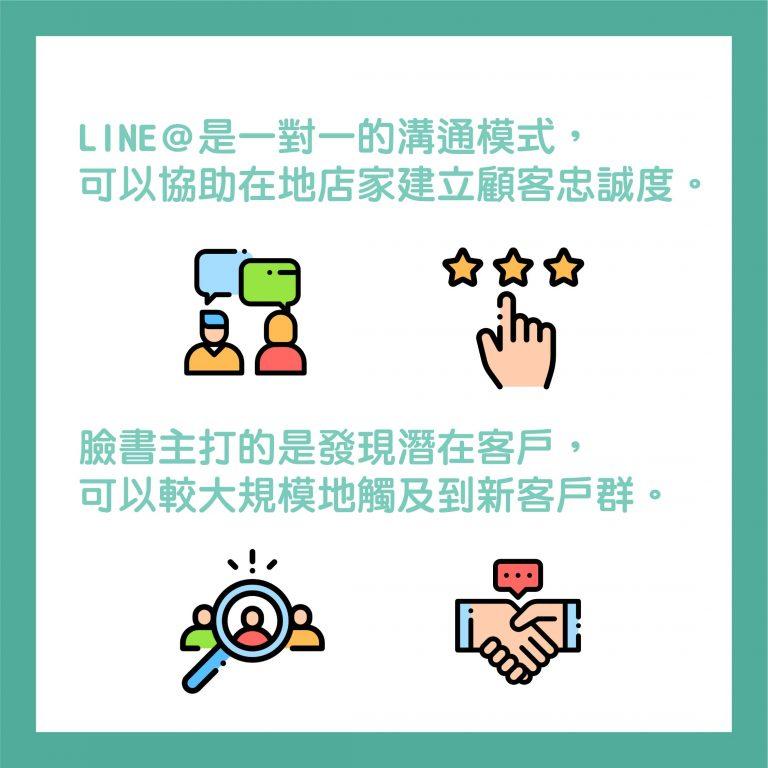 LINE@一對一的溝通,建立顧客忠誠度
