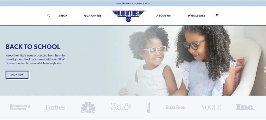 Shopify成功店鋪Babiators