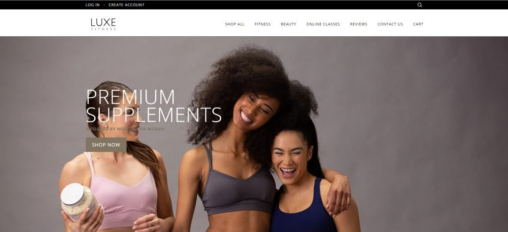 Shopify成功店鋪Luxe Fitness
