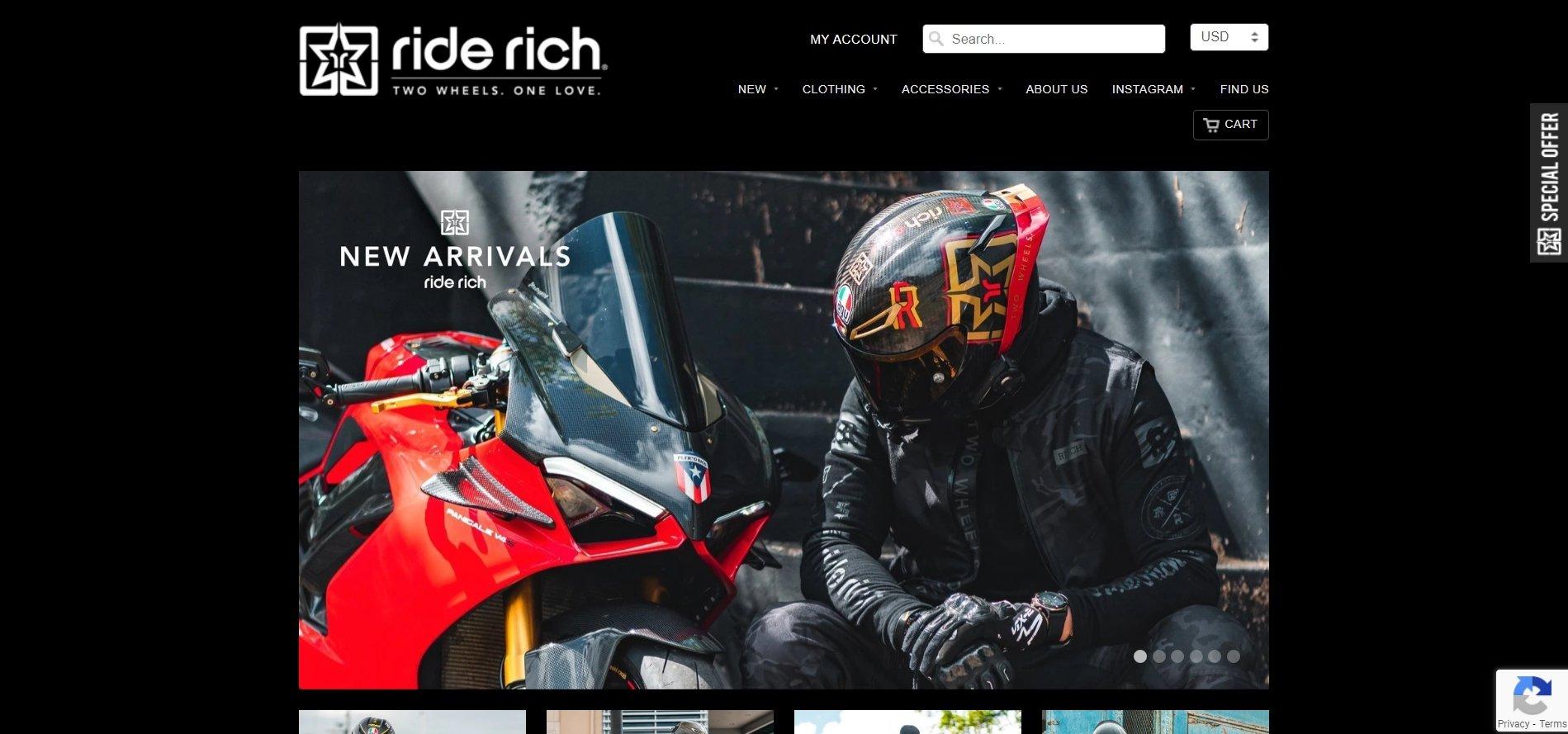 Shopify成功店鋪Ride Rich