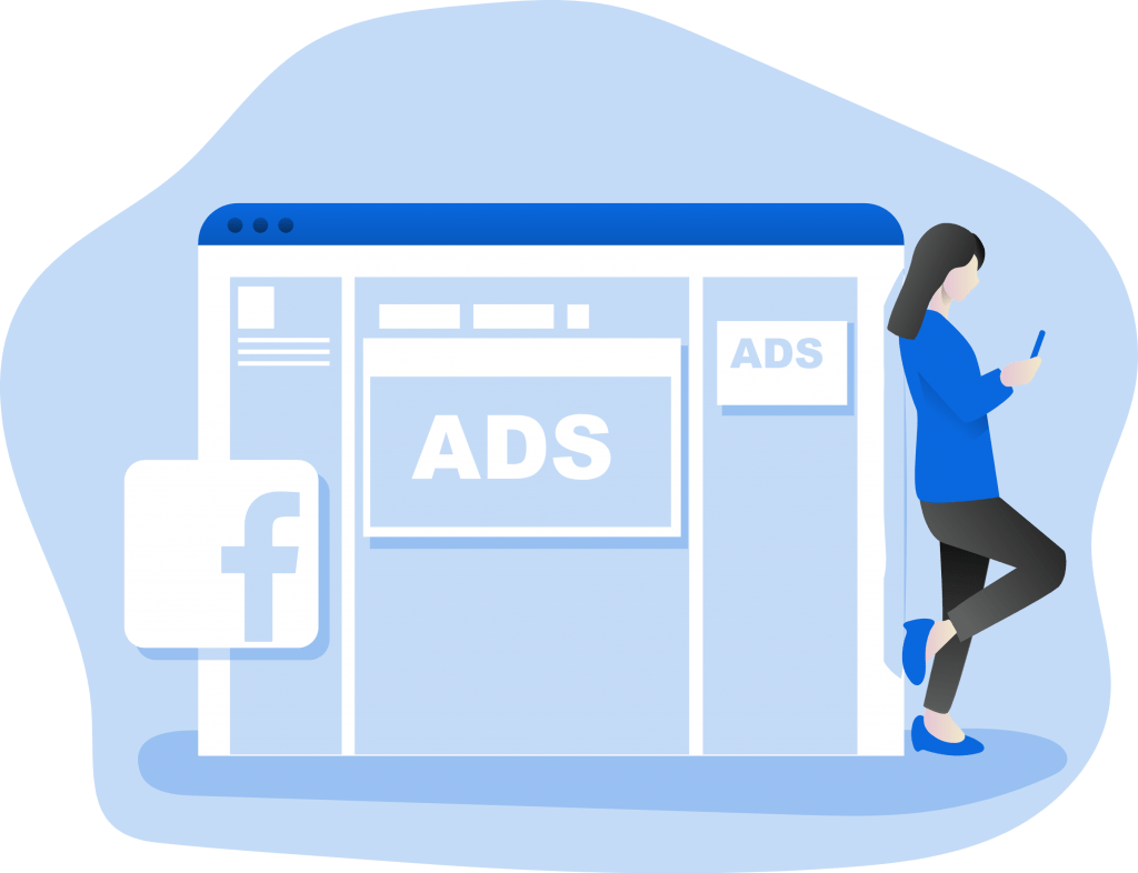 facebook ad monochromatic