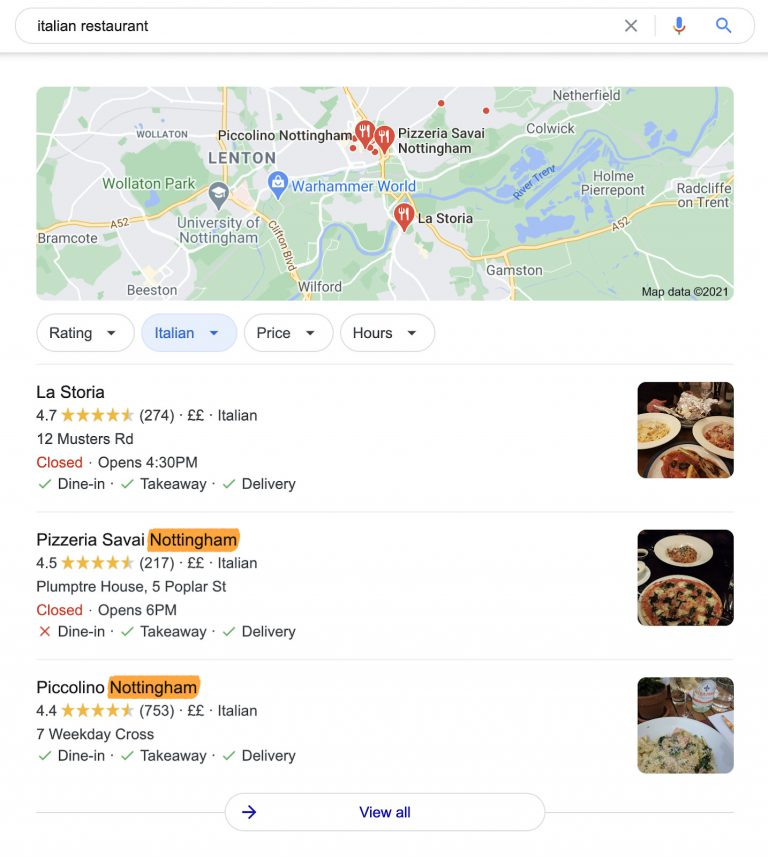 13 italian restaurant