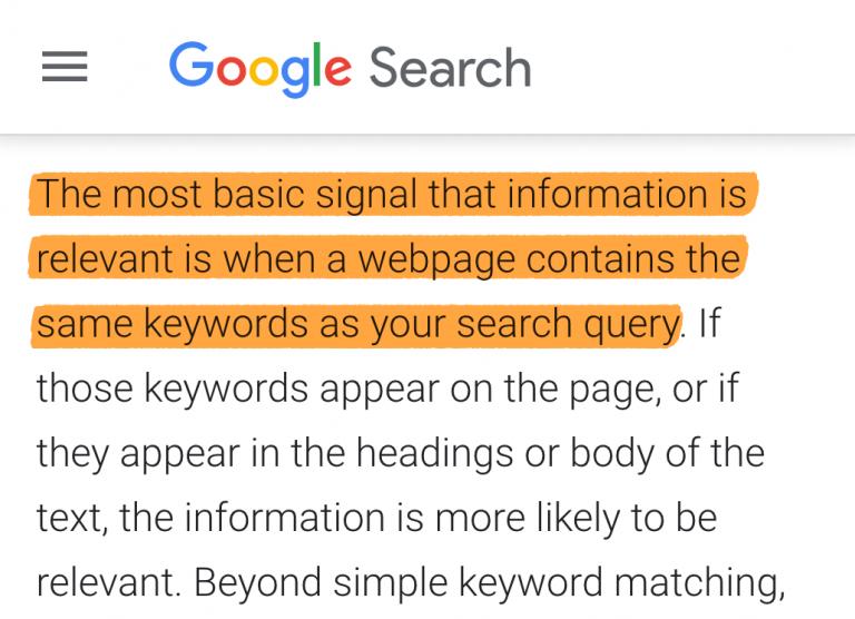 3 google guidelines